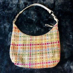 The Sak Ribbon Woven Shoulder Bag Multicolor